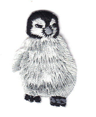 Baby Penguin - Arctic Animals - Penguins - Iron On Embroidered Applique Patch