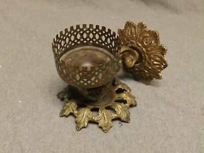 Antique Brass Cup Holder Old Ornate Vintage GLO-M-AR Bathroom Fixture 376-16