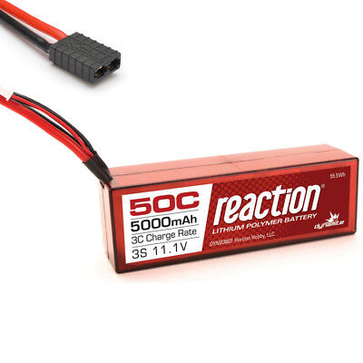 Dynamite Reaction 11.1V 5000mAh 3S 50C Hardcase LiPo Battery Traxxas Connector