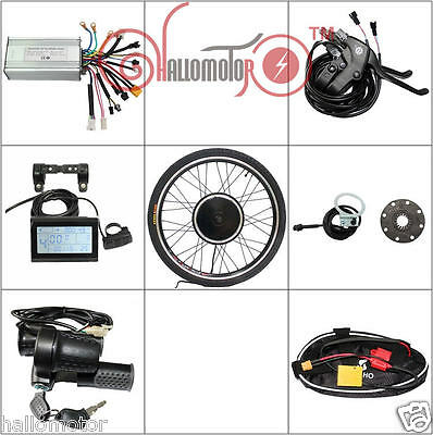 "48v 1000w 20"" Front Wheel Ebike Conversion Kit with Sine Wave Controller"