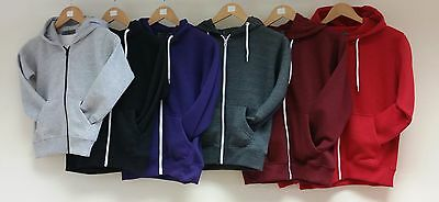kids plain hoodie jacket light weight size 5-13