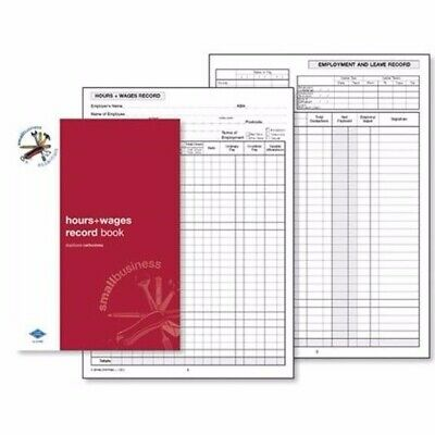 Zions Hours + Wages Record Book 210 x 145mm SBE9