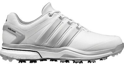 NEW Adidas AdiPower Boost White/Silver Golf Shoes Mens Size 12 Medium
