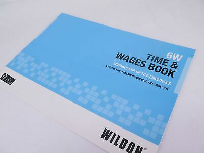 Wildon Time & Wages Book 6W WIL006