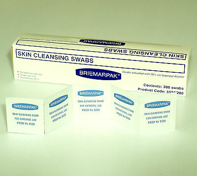 3000 70% Isopropyl Alcohol Impregnated Wipes Swabs Cleaning Pad Rubbing Sterile