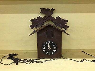 Vintage Antique Cuckoo Clock Mfg Co German Clock For Repair Wood Wall Clock