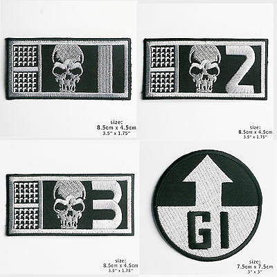 ROGUE TROOPER Biochips & Souther Iron-On Patch Series - 2000AD - Gunnar, Helm...