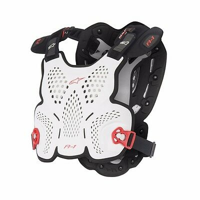 Alpinestars A-1 Chest Protector Vest Ce Approved Roost Guard Adult White Red