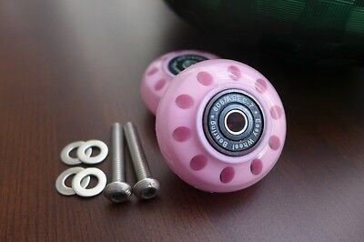 Brompton Eazy Wheels with 6mm Screws for Rear Frame Pair