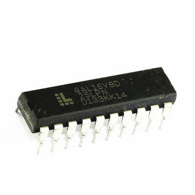 10 Pcs Ic Gal16V8D Gal16V8D-25Lp -15Lp Dip-20 New
