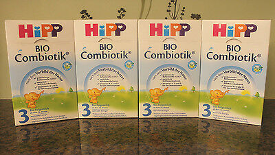 ***FREE EXPEDITED SHIP*** 4 BOXES HiPP Stage 3 Organic Growing Up Milk Combiotic