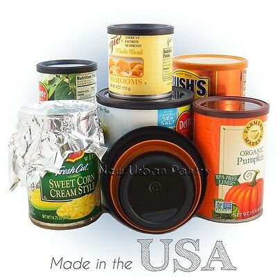 PANTRY LIDS Reusable Plastic Tin Can Covers/Couvercles for canned food 4 Sizes