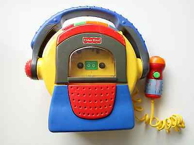 Fisher Price Cassette Player Microphone Recorder 1999-Working