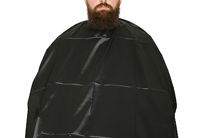 Barber Salon Cape Gown Black (Luxury) 160CMx140 Free UK Delivery