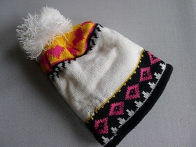 vintage retro true 60s unused knit hat beanie toddler boy girl NOS