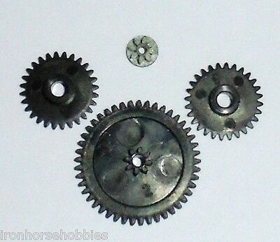 Tyco Model Train Spares 7-1039 Full 4 Gear Set for Power Torque Motors