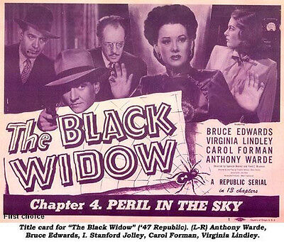 The Black Widow - Classic Movie Cliffhanger Serial DVD Bruce Edwards