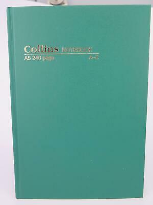 CollinsA5 Green Casebound Notebook Feint 240P #5604