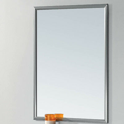 Modern 700 X 500 mm Bathroom Cosmetic Mirror Glass With Stainless Steel Frame