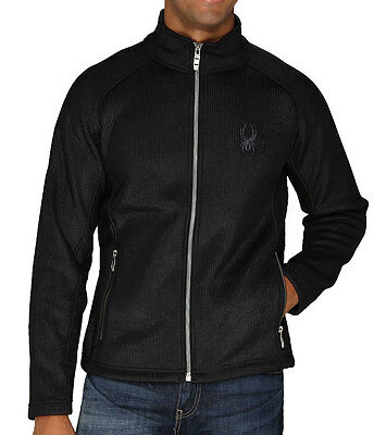 Spyder Alloy Mens Mid Weight Core Full Zip Sweater Black Small
