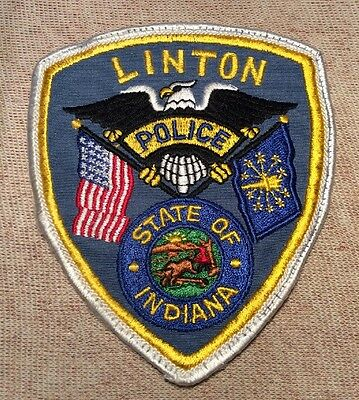 IN Linton Indiana Police Patch