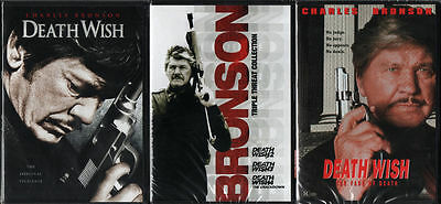 Death Wish Complete Collection Charles Bronson 1/2/3/4/5 New Sealed 3 Dvd Set