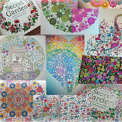 Young Adult Painting Coloring Books Secret Garden Topic Parperback Children Book