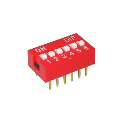 10Pcs NEW Slide Type Switch Module 2.54mm 6-Bit 6 Position Way DIP Pitch
