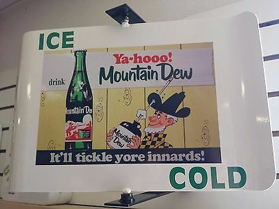 Mountain Dew Vintage/retro  Spinning Wall Mount Advertising Sign