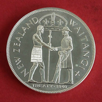 NEW ZEALAND 1840 WAITANGI DAY SILVER PROOF PROOF PATTERN CROWN - mintage 18