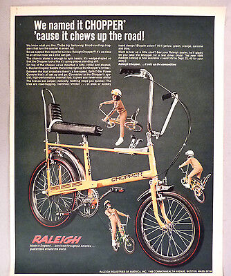 Raleigh Chopper Bicycle PRINT AD - 1969
