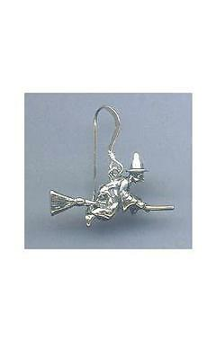 3-D Witch on Broom Earrings - SS