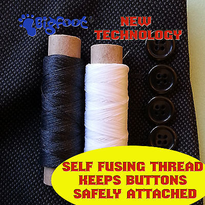 BUTTONLOCK-STRONG SELF-FUSING SEWING THREAD FOR SECURE BUTTON ATTACHMENT 100m