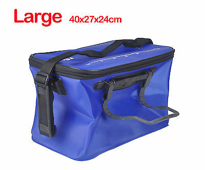 Large EVA Foldable Live Bait Berley Bucket Fishing Container Fish Carrier tank