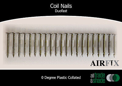 Coil Nails - Duofast - Bright Finish - Ring - Length: 27mm x 2.1mm - Box: 3,600