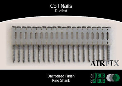 Coil Nails - Duofast - Dacrotised - Ring - Length: 50mm x 2.5mm - Box: 7,200