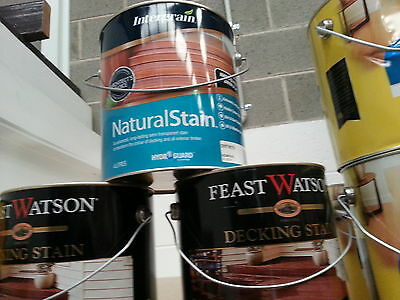 INTERGRAIN 4 LITRE NATURAL-STAIN EXTERIOR DECKING AND TIMBER DRIFTWOOD colour