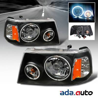 2001 2009 Ford Ranger Pickup Truck Dual Ccfl Halo Black Headlights Lamps Set