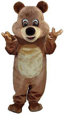 Brown Teddy Bear Professional Quality Lightweight Mascot Costume Adult Size