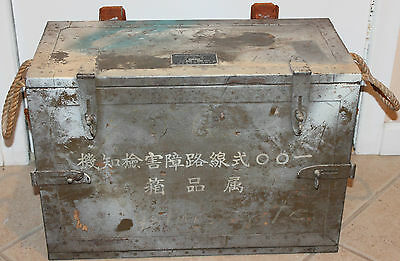 WWII Japanese Army Type 100 Radio Equipment & Crystals in Original Box Chest