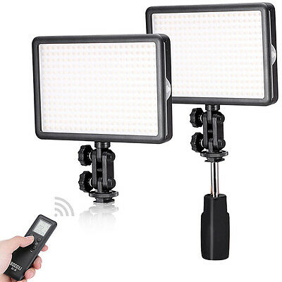 Neewer 2x LED308C Dimmable Video Light with Wireless Remote for Canon,Nikon,Sony