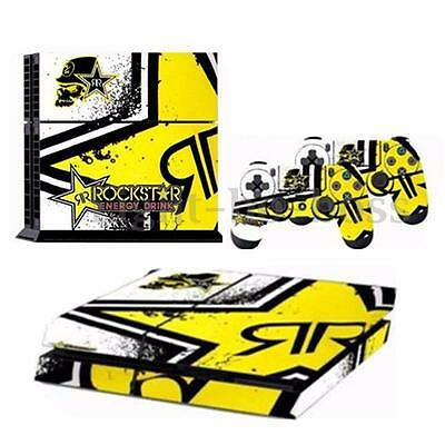 Skin Sticker For PS4 PlayStation 4 Console + 2 Controller Protector ROCKSTAR