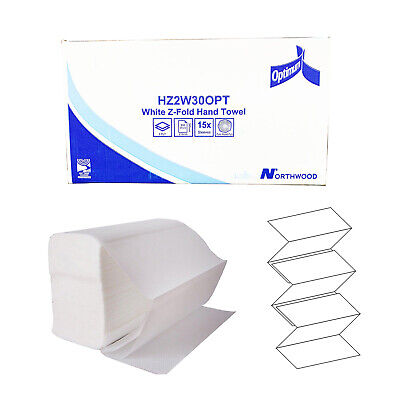 LUXURY Soft White 2ply Z Fold Paper Hand Towels MultiFold - Case of 3000