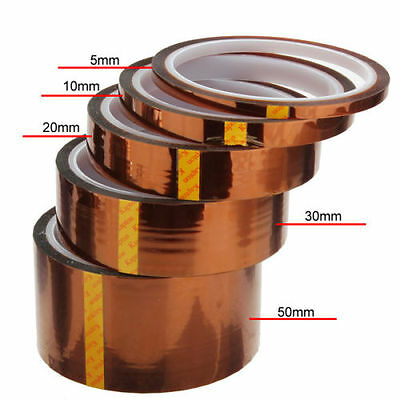 UK 5/10/20/50mm 100ft Heat Resistant High Temperature Polyimide Kapton Tape BGA