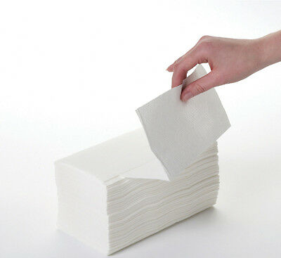 8 Boxes White Paper Hand Towels 2ply Z Fold, TOP QUALITY FREE NEXT DAY DELIVERY