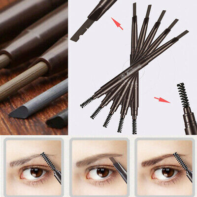 2en1 Crayon à sourcil Lasting Eyeliner Eyebrow Double brosse Yeux Stylo Pinceau