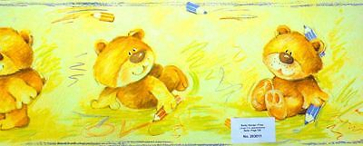 Teddy Bears Wallpaper Border Kids Bedroom / Playroom / Nursery 5M Long Free P+P
