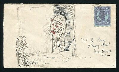 Queensland To Wales Qv Pictorial Envelope