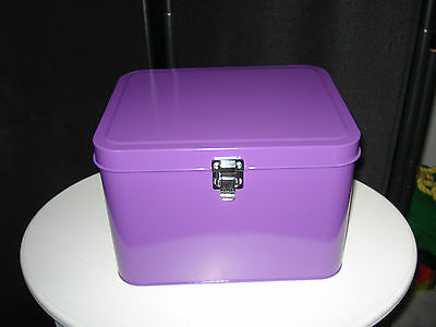 Danish Design by Waterquest - Nähkasten Metall Violett - Utensilien Box