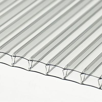 4mm Clear Polycarbonate Sheet 1220mm x 700mm Greenhouse replacement *Stock Sale*
